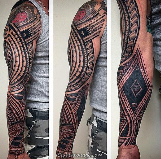 Full Sleeve sur jambe et du pied Hommes samoan tatouages tribaux