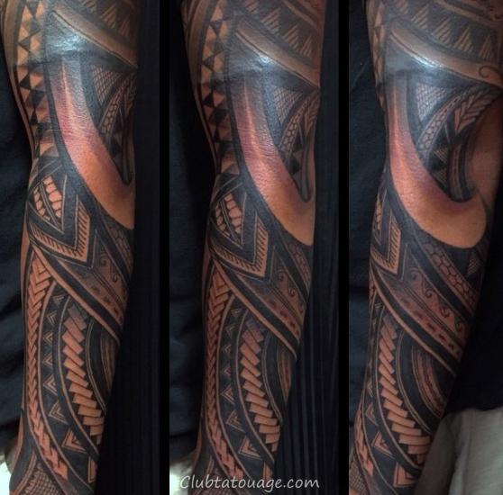 Les gars samoan manches demi Designs tatouages tribaux