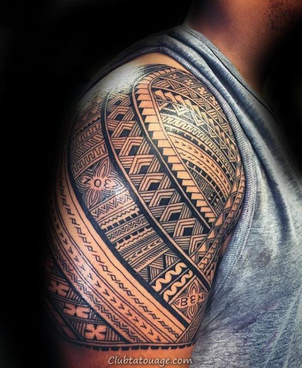 90 Tatouages samoans pour hommes - Idées d'encre tribales