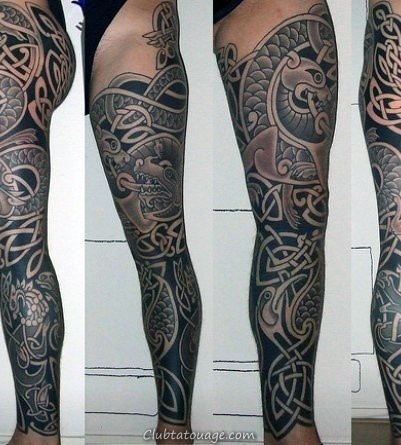 Guys Knots Celtic Tattoo Sleeve Avec détaillée Dotwork Art style
