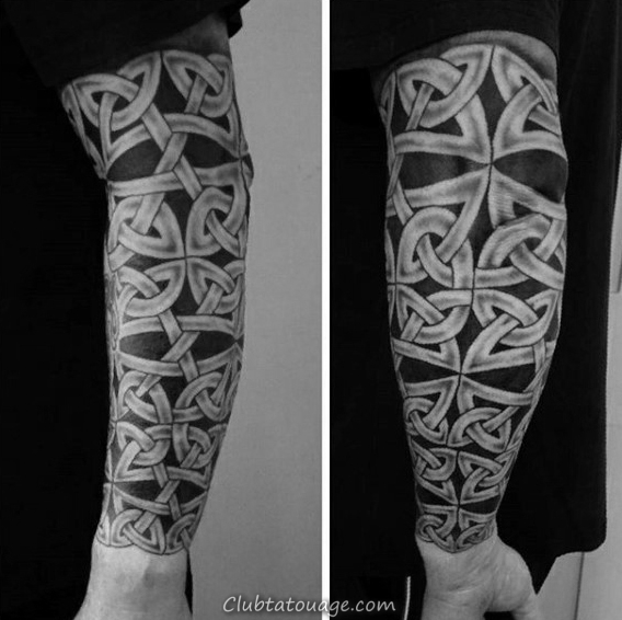 Leg Sleeve Celtic Tattoo Designs Pour Gentlemen