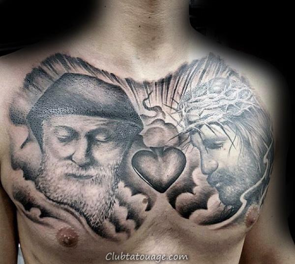 Manly Guys Ornement sacré-coeur manches design Tattoo idées sur les avant-bras
