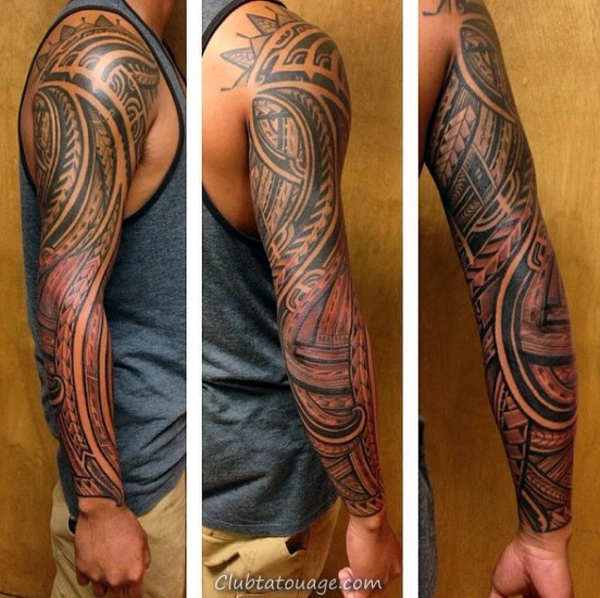 Man With Lower Leg samoan Tattoo tribal