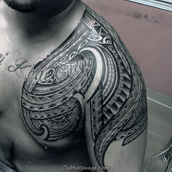 samoans Idées de tatouage tribal de Nice pour les hommes sur la poitrine