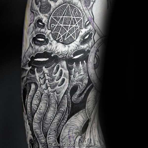 Outline Of Cthulhu Tattoo Le Mans Arm