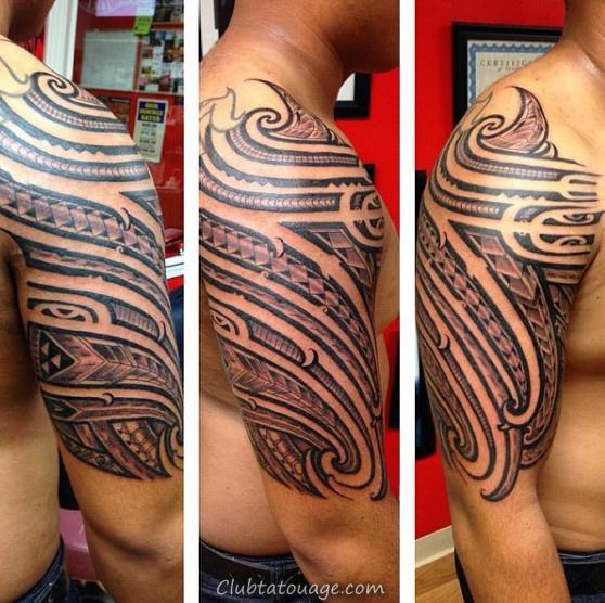 Inspiration Ornement Homme manches demi samoan tatouage avec Tribal Designs