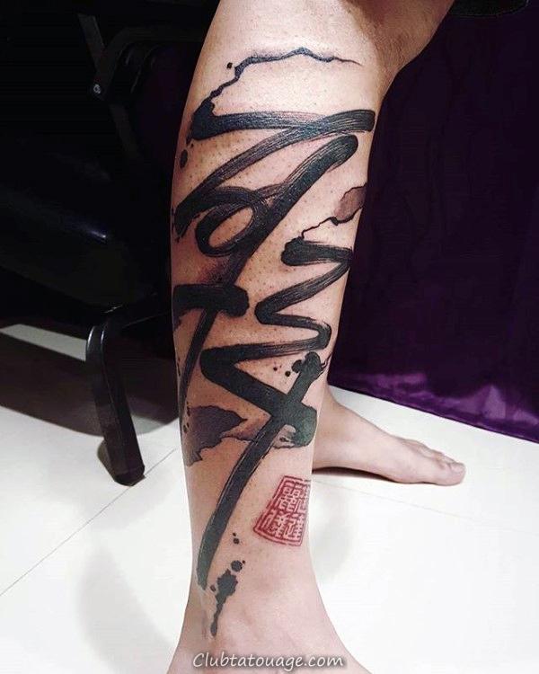 Quarter Waterfall manches avec le texte chinois Hommes tattoo Ideas