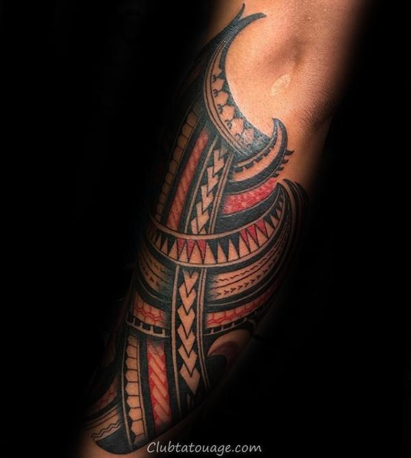 samoan tribal Leg manches Tatouages pour les hommes