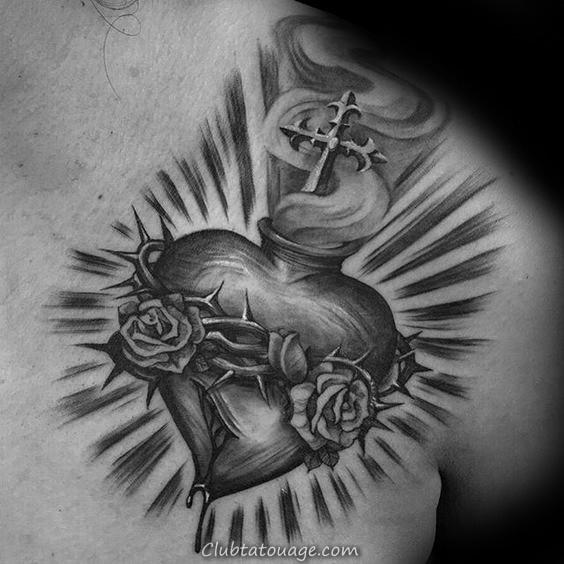 Petit 3d sacré coeur Christan guys sacré-cœur Inner Forearm Tatouages