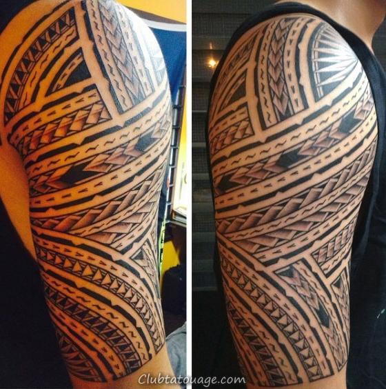 omoplate Homme samoans tatouages tribaux