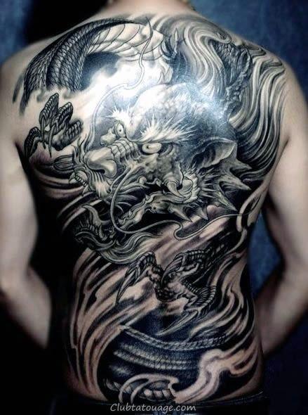 50 dessins de tatouage chinois pour hommes - Flaming Idées d'encre