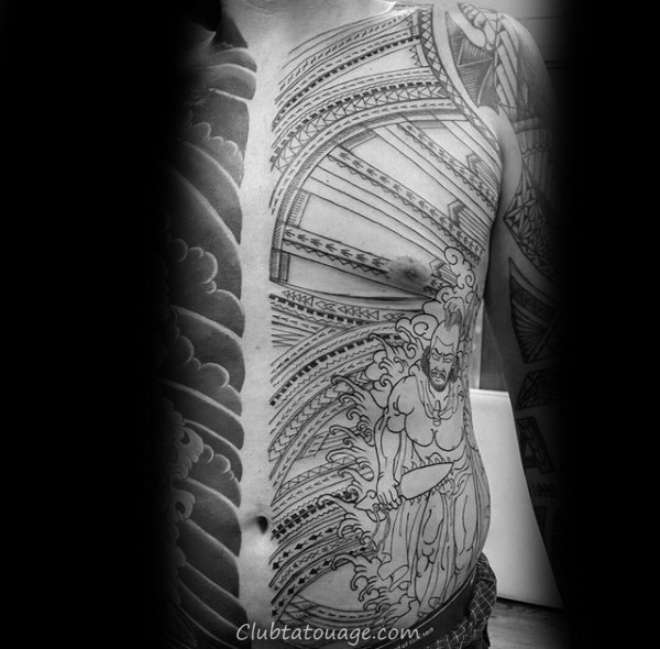 Sick Mens samoan Tattoo Sleeve Half Avec tribal design
