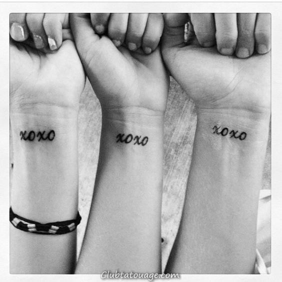 XOXO symbole tatouage, une idée originale pour les tatouages 