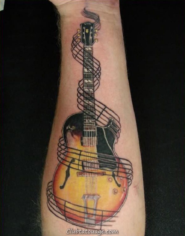 85 Meilleure information sur les modèles Tatouages Guitare