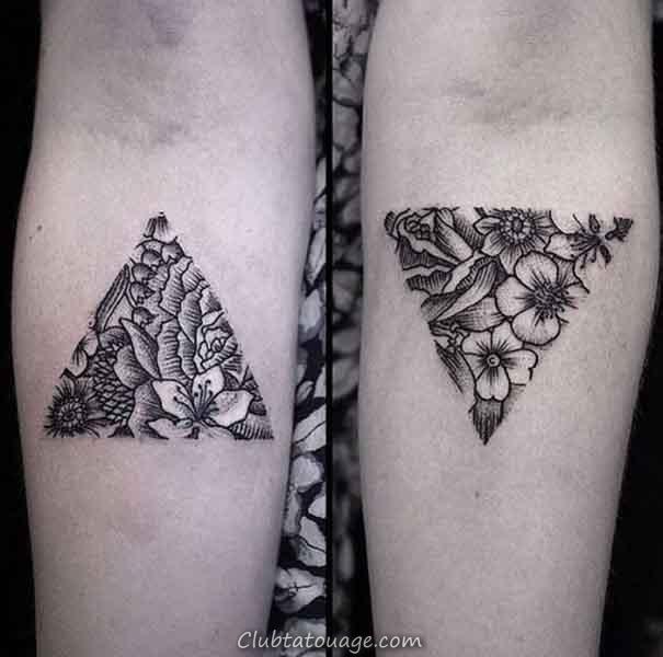 cool triangle tatouages 2017
