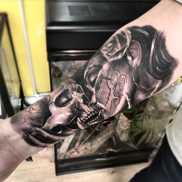 Tatouages de crâne de sucre - symbolisme, signification et meilleurs modèles