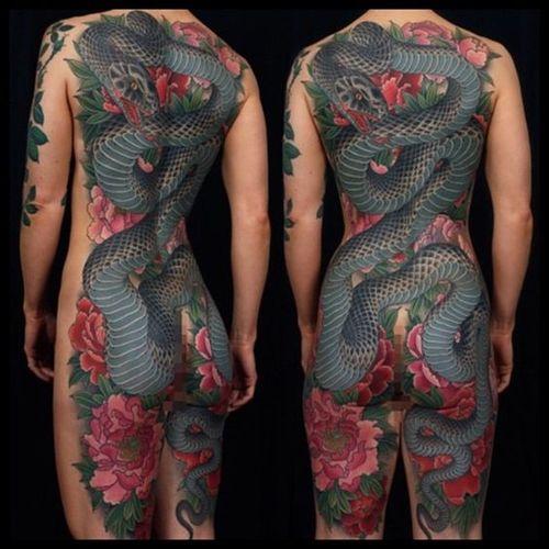 45 idées de tatouage de serpent japonais