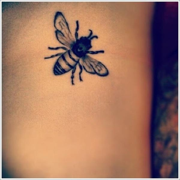 Belles significations de tatouage d'abeille et conceptions