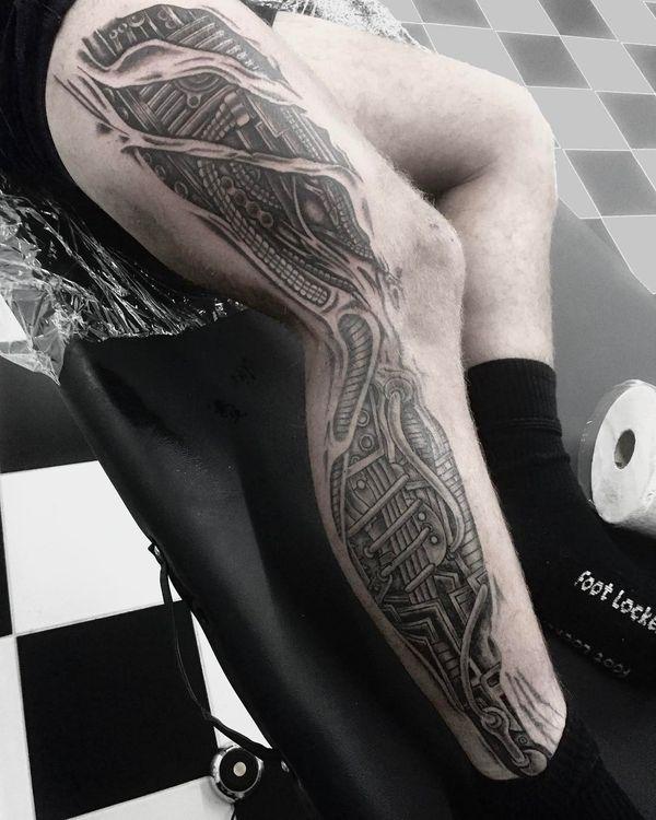 Robot Leg Tattoo pour les enfants