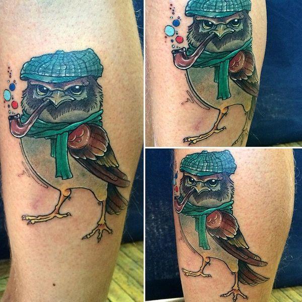 Conceptions de Tatouages Sparrow avec le sens