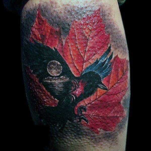 125 Awesome Crow / Raven idées de tatouage et leur signification