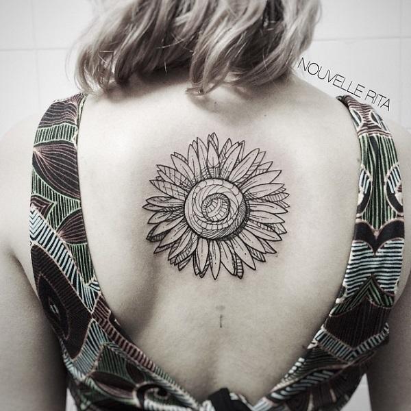 tatouage de tournesol