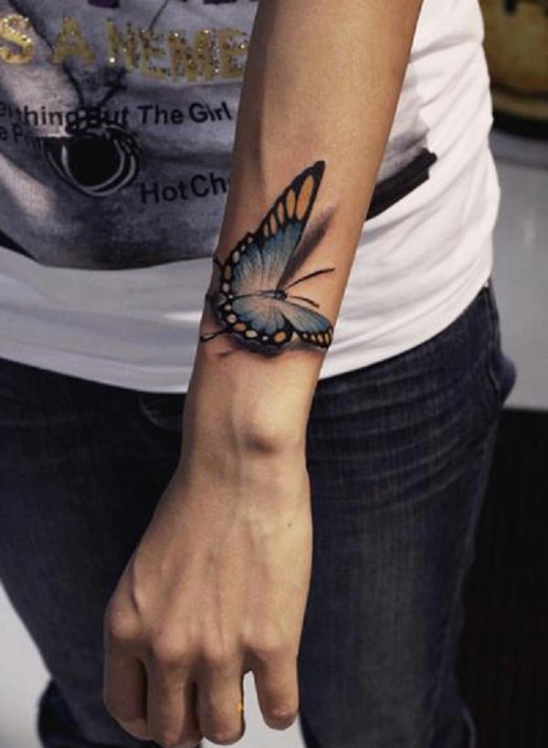 Tatouage papillon 3D 3