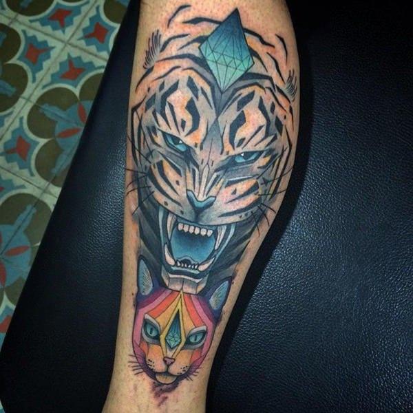 Meilleur 99 tatouages de tigre supérieurs à partir de 2018