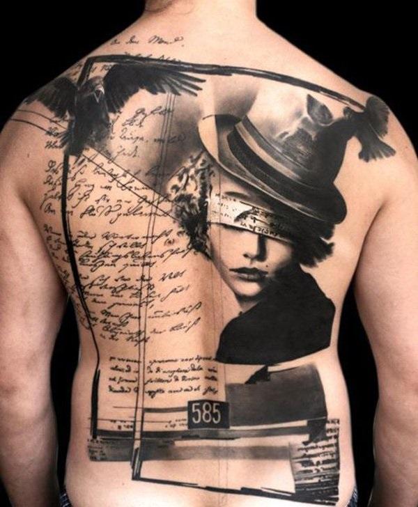 Conceptions et thèmes de tatouage arrière complet 4