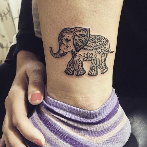 Tatouage tribal d'éléphant