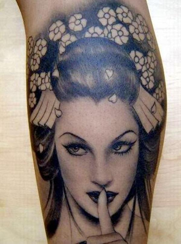 Idées époustouflantes de tatouages de Geisha 3
