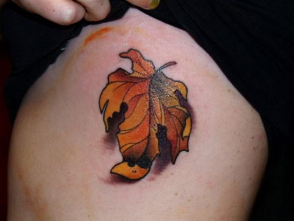 79 idées de conception de tatouage de feuilles simples pour les amoureux de la nature