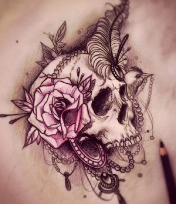 80 tatouages de crâne effrayants et significatifs