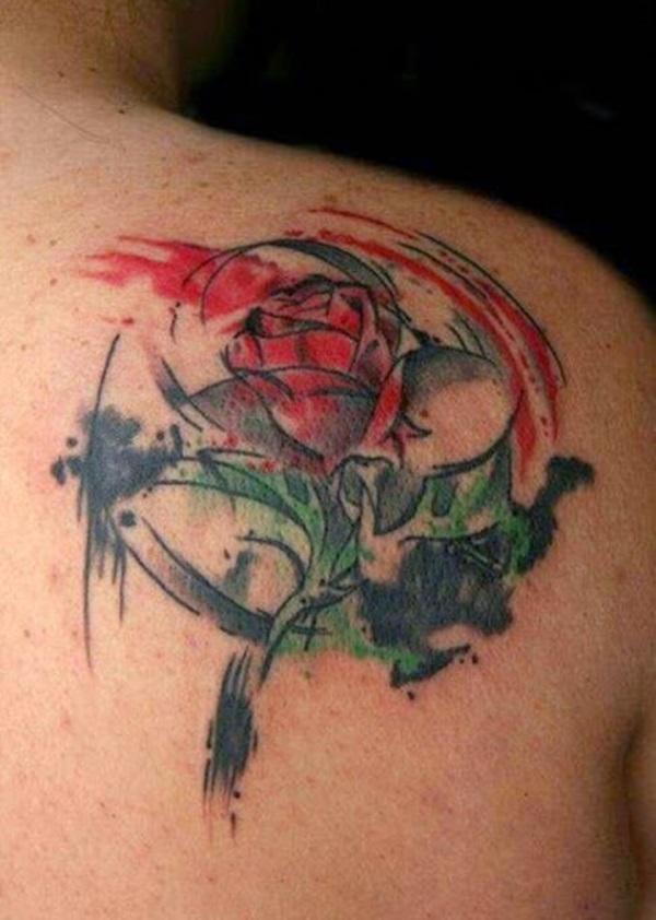 35 beaux dessins et significations de tatouage de rose