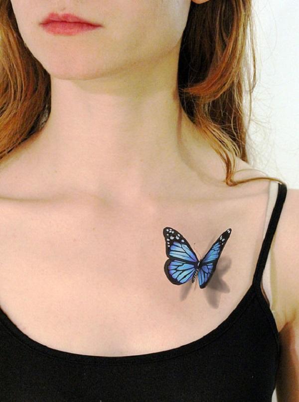 Tatouage papillon 3D 2