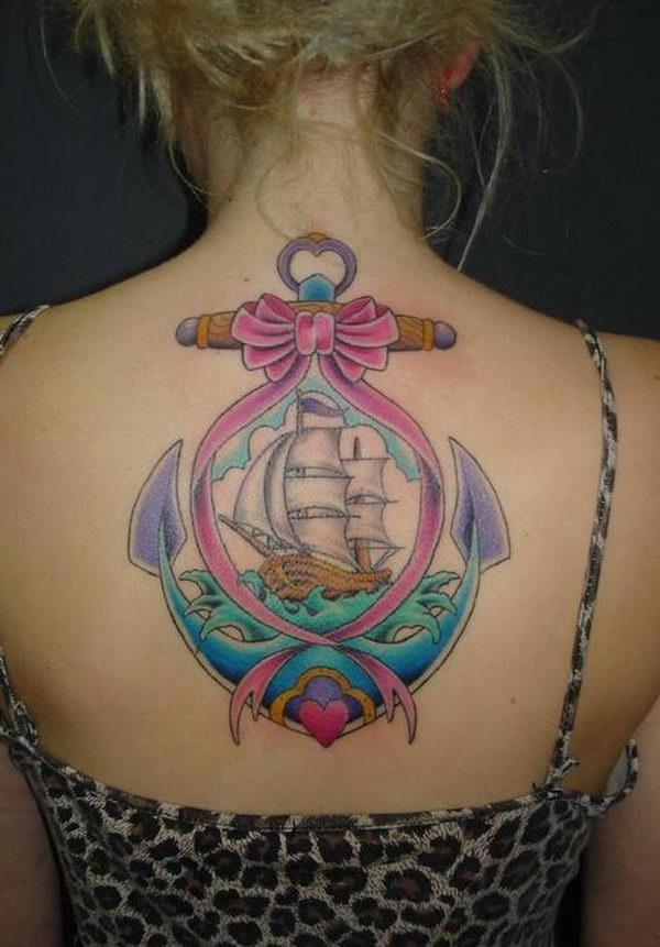 45 idées de conception de tatouage d'ancre