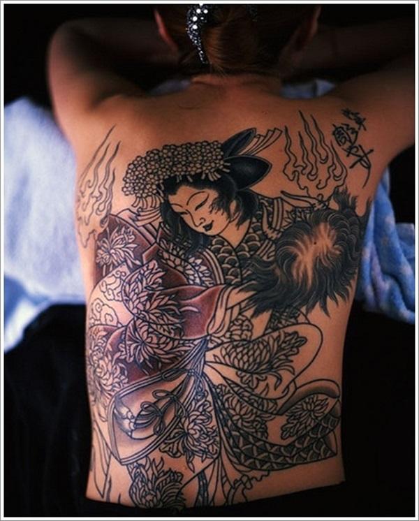 Idées Mindblowing de tatouages de Geisha 1