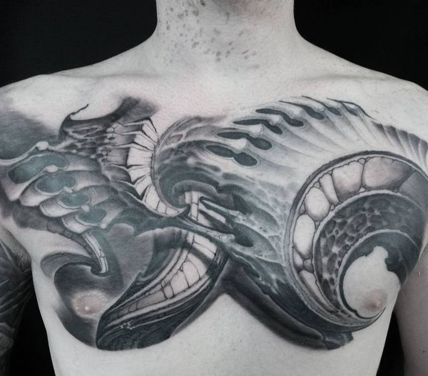 Conceptions de tatouage biomécaniques cool