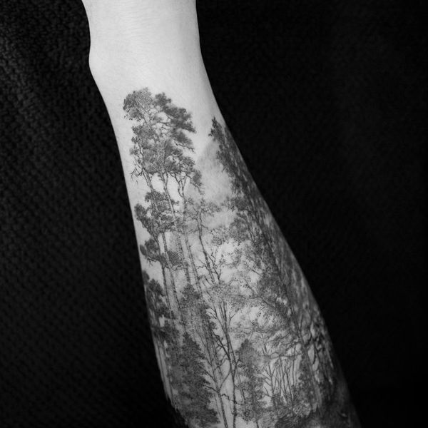 Belles conceptions de tatouages d'arbres