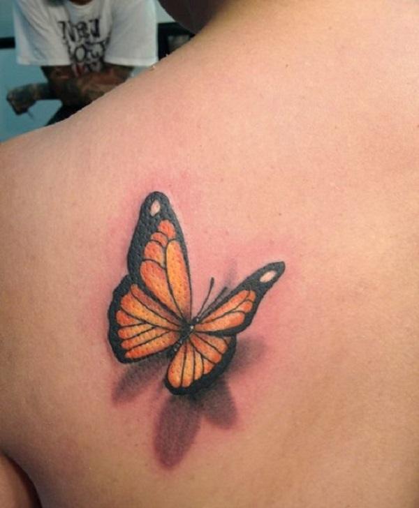Tatouage papillon 3D 5