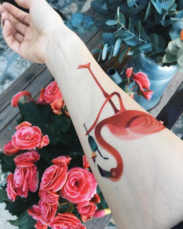 50 idées de tatouage Flamingo