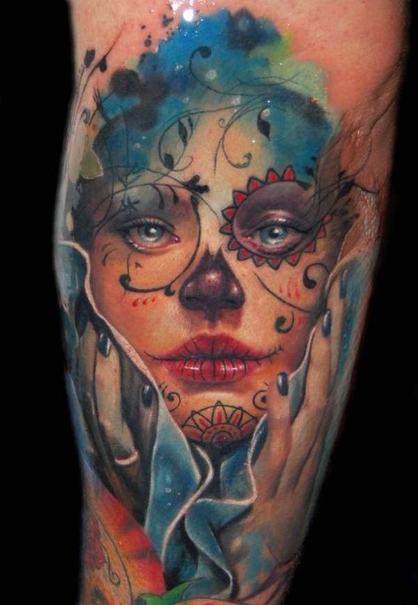 Dessins de tatouage de crâne de sucre