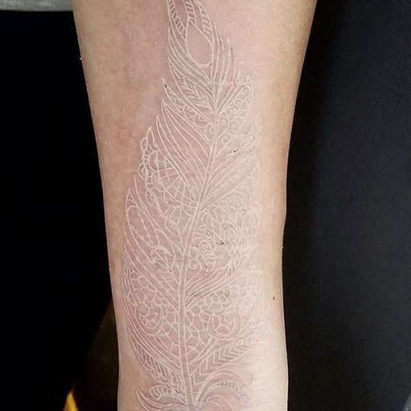 Meilleur 150 meilleurs tatouages d'encre blanche aux États-Unis cette année