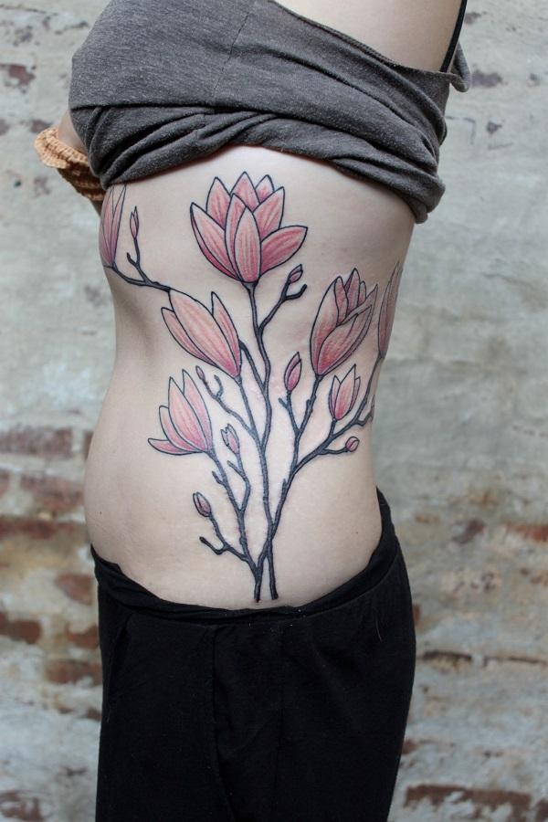 70 idées de conception de tatouage de fleur de magnolia