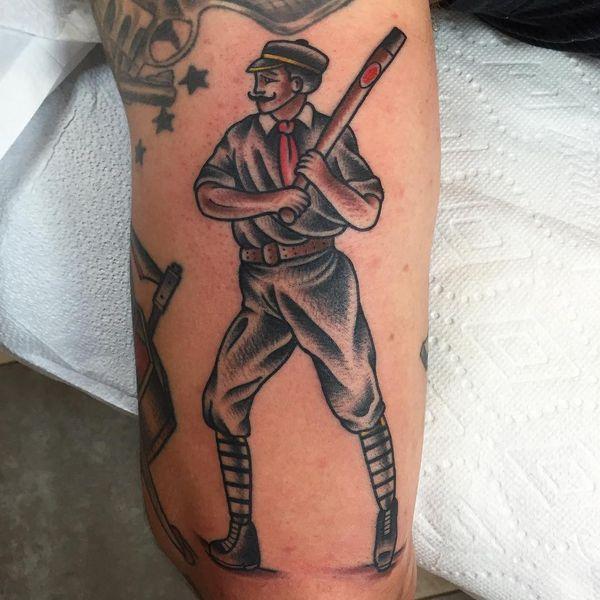 Concepts cool de tatouages de baseball