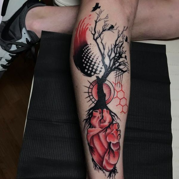 Le symbolisme des tatouages d'ordures Polka
