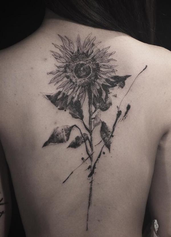 tournesol-dos-tatouage-idée