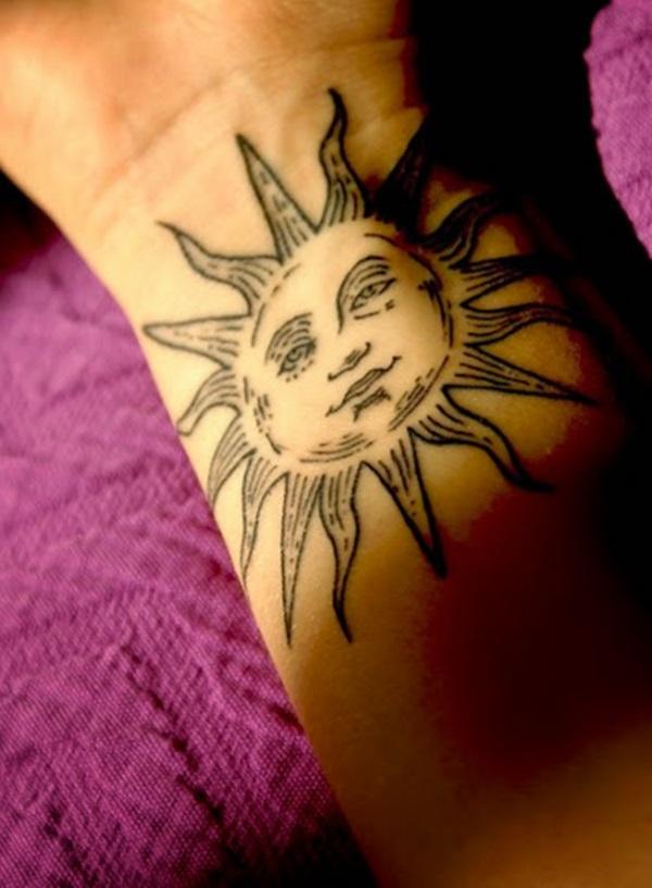 35 Idées de conception de tatouage de soleil Signification 2