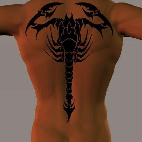 Tatouages tribal scorpion pour hommes et femmes