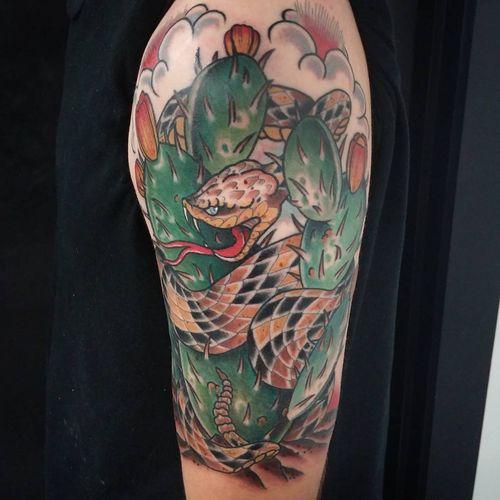 35 idées étonnantes de tatouage de serpent à sonnettes